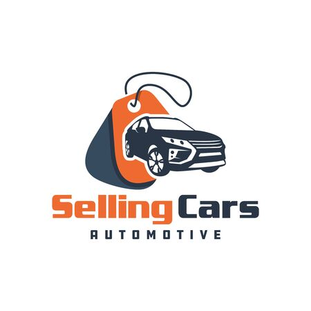 Car sales showroom logo design