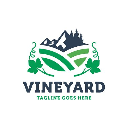 logo design of wineries on the mountain