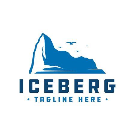 Antarctic iceberg vector logo design