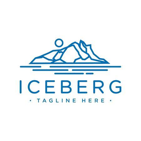 design an iceberg logo with an outline style