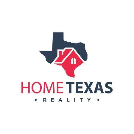 vector house logo design in texas