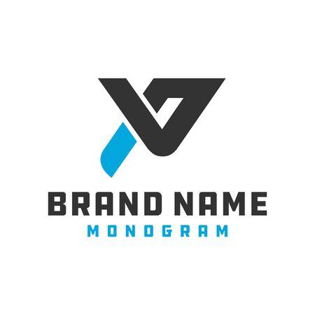 logo design modern monogram logo letter PV Logo