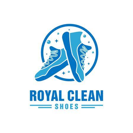 shoe washing laundry logo design