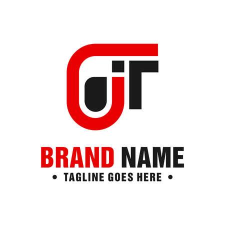 modern logo design letter JT your company