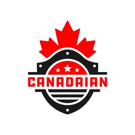 Canada Shield Vector Logo Design