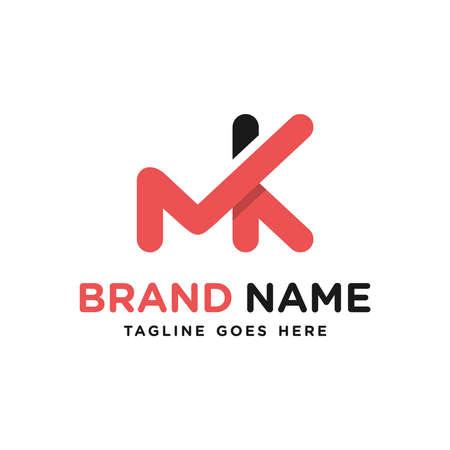 monogram logo design letter MK