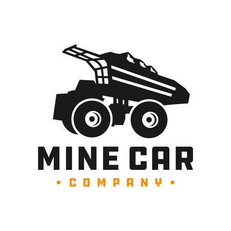 mine truck car logo design Vettoriali