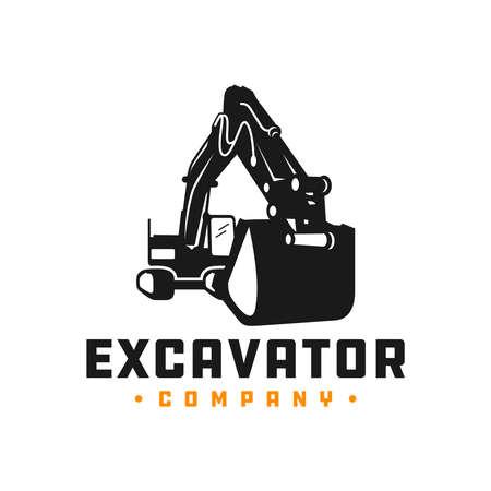 Excavator mining equipment logo design