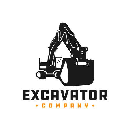 Excavator mining equipment logo design