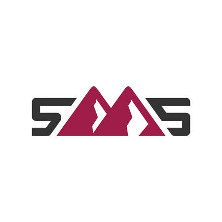 mountain logo design letter SMS