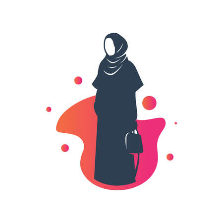 Muslim hijab fashion  design Illustration