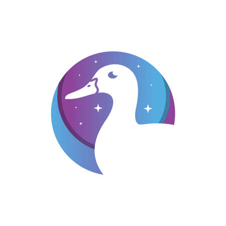 egret animal logo design your company