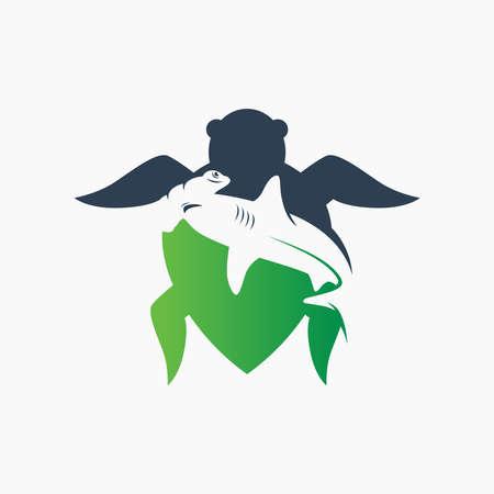 Deer head modern logo design