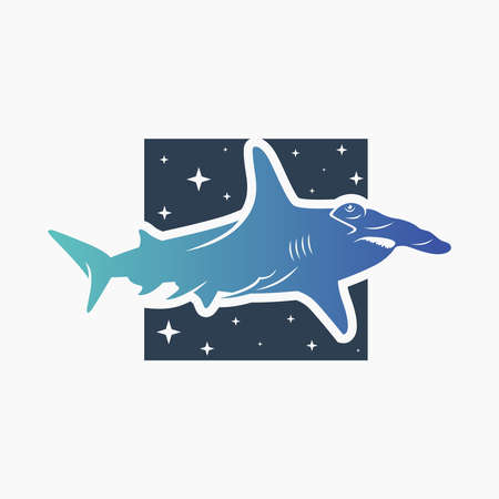 Modern Hammerhead Shark Logo Design