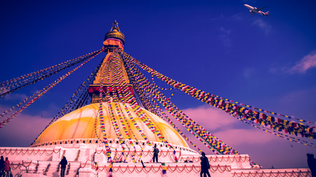the stupa: Boudhanath Stupa Stock Photo