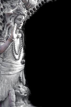 mahadev: Nepalese sculpture found in Gupteshower Mahadev cave in Pokhara,Nepal.