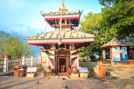 phewa: Pokhara,Nepal- Dec 11,2015:The Taal Barahi Temple which is in the middle of the phewa Lake. Editorial