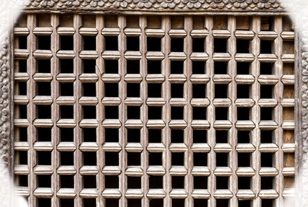 web designing: Wooden ancient Nepalese window texture background or pattern