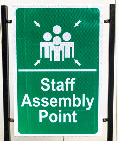 assembly point: The Sign or Symbol of Staff Assembly Point.