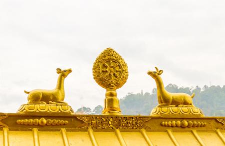 Statue in Swayambhunath Stupa,Kathmandu,Nepal