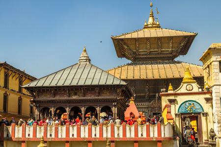 Kathmandu,Nepal - Feb 24,2017: People in Mahashivatri Festival at Pashupatinath Temple,Kathmandu,Nepal. Editorial