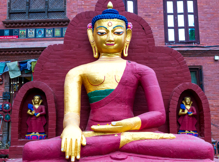 Beautiful Statue of Buddha in Swayambhunath Temple Kathmandu,Nepal.