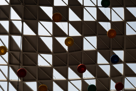 Modern architecture rounded roof of the shopping centre in Kathmandu Nepal. 写真素材