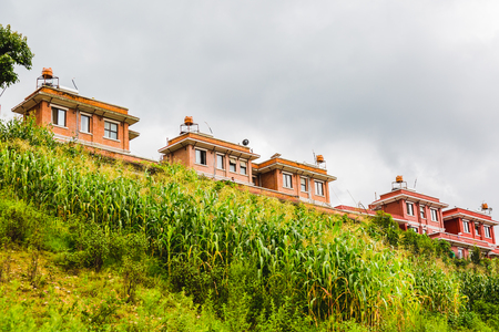 Modern residential buildings Architecture, apartments in new urban housing,Modern Apartments,Countryside buildings Apartments and Housings of Kathmandu Nepal.