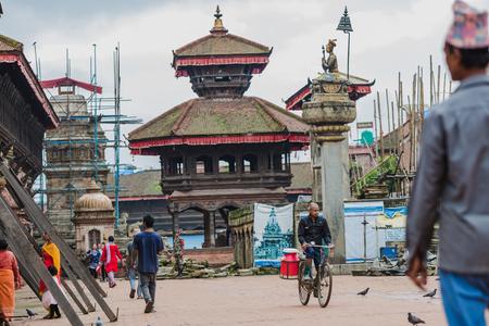 Bhaktapur,Nepal - August 4,2018 :Early morning view of bhaktapur durbar square ,Nepal. Editorial