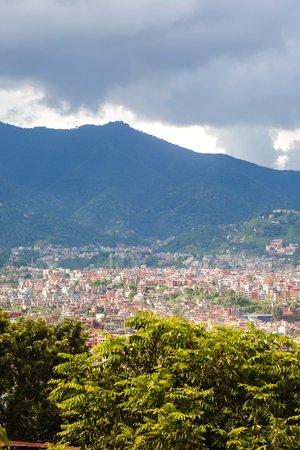 aerial view of kathmandu city,City of temples kathmanddu view from Bagh Bbhairab temple,Kritipur.