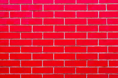 Close up of Red bricks wall Texture background.