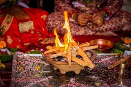 Details of Hindu marriage wedding ceremony.Hindu wedding Rituals . selective focus Standard-Bild - 148388820