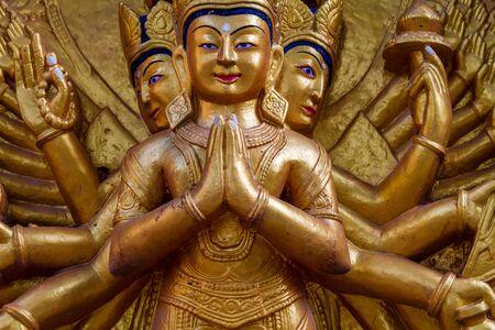 Statue of Hindu goddess in Kathmandu Nepal. Standard-Bild