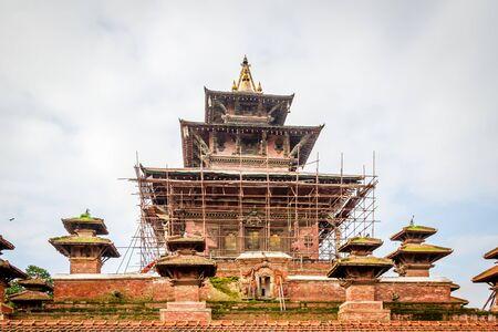 Taleju Temple in Kathmandu Durbar Square, Nepal under renovation after Gorkha Earthquake. Standard-Bild