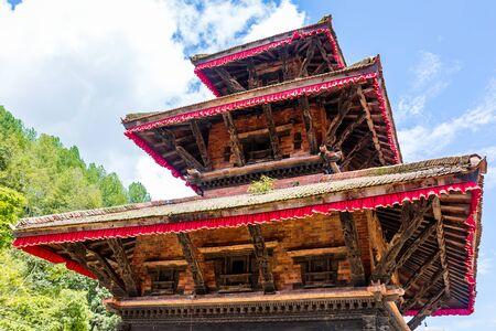 View of Artistic Hindu Temple with best wooden sculpture in Kathmandu,Nepal. Standard-Bild - 149614791