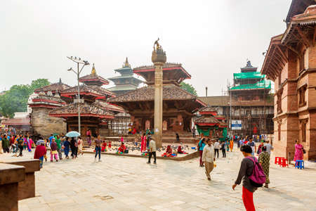 Kathmandu,Nepal - June 28,2019: Hindu Temples of Kathmandu Durbar Square.Tourist Travel Destinations in Kathmandu.Places to visit in Kathmandu. Editorial