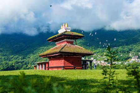 Kathmandu,Nepal - June 26,2019: Hindu Temple Shree Kali Mandir at Khokana.Tourist Travel Destination in Kathmandu.Places to visit in Kathmandu.SriKali Temple Editorial