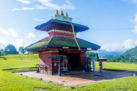Kathmandu,Nepal - June 26,2019: Hindu Temple Shree Kali Mandir at Khokana.Tourist Travel Destination in Kathmandu.Places to visit in Kathmandu.SriKali Temple Standard-Bild - 148731765