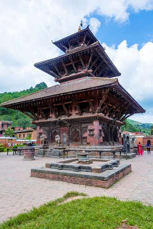 Banepa,Nepal - August 2,2019: View of Hindu Temple Indreshwor Mahadev located at Banepa,Kavre.Tourist Travel Destination near Kathmandu.Places to visit in Kathmandu. Standard-Bild - 148731770
