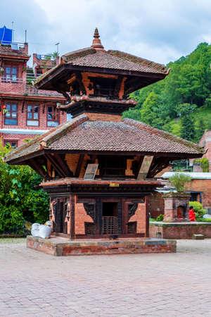 Banepa,Nepal - August 2,2019: View of Hindu Temple at Indreshwor Mahadev premises located in Banepa,Kavre.Tourist Travel Destination near Kathmandu.Places to visit in Kathmandu. Standard-Bild - 148731771