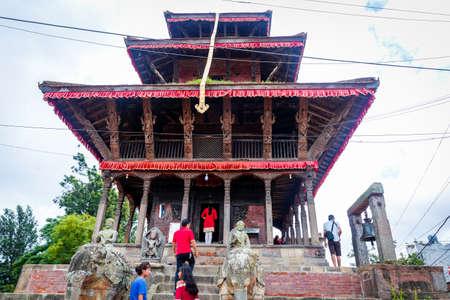 Kathmandu,Nepal - August 15,2019: Hindu Devotees at Uma Maheshwor Temple of Kritipur Kathmandu Nepal.Tourist Travel Destination in Kathmandu.Places to visit in Kathmandu. Standard-Bild - 148731772