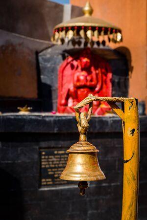 Bell in a hindu temple in Kathmandu Nepal. Hindu Temple