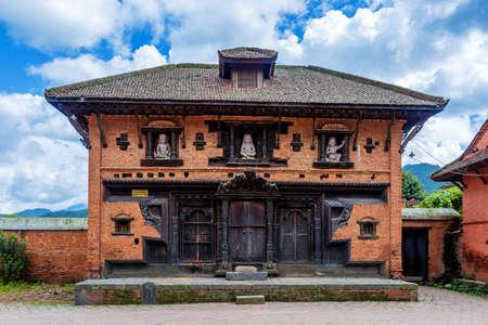 Banepa,Nepal - August 2,2019: View of Hindu Temple at Indreshwor Mahadev premises located in Banepa,Kavre.Tourist Travel Destination near Kathmandu.Places to visit in Kathmandu.