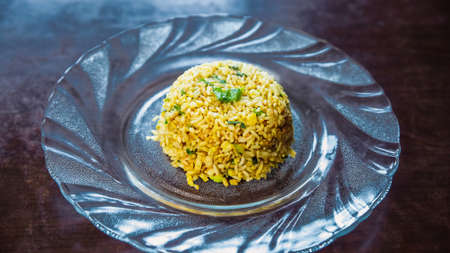 Egg Fried rice served on a plate. Fried Rice,Korean Fried rice