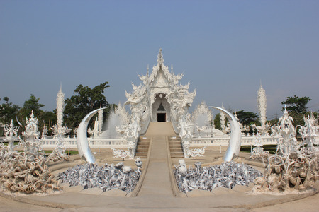 Rongkhun Temple or White Temple  in Chiangrai, Thailand photo