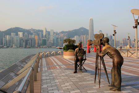 Avenue of Stars, modelled on the Hollywood Walk of Fame, in Tsim Sha Tsui, Hong Kong