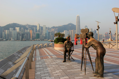 Avenue of Stars, modelled on the Hollywood Walk of Fame, in Tsim Sha Tsui, Hong Kong