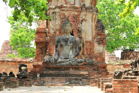 Buddha at Watmahathat Temple in Ayudhaya, Thailand photo