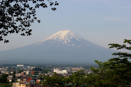 Famous Fuji Mountain in Japan photo