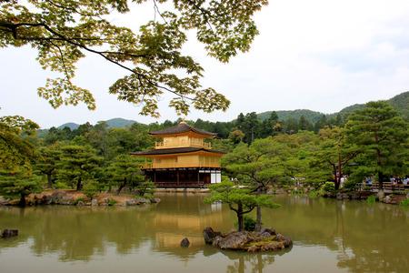 rokuonji: Kinkaku-ji or Rokuon-ji, a famous Zen Buddhist Temple, in Kyoto, Japan